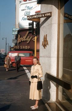 Hollywood and Vine, Los Angeles, CA, 1959