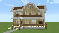 A tutorial on how to build a suburban wooden house in minecraft. For questions on the building please ask me in the comments. Shock Frost 2017 (c) Easy Minecraft Houses, Minecraft House Tutorials, Minecraft Castle, Minecraft Houses Blueprints, Minecraft Room, Minecraft Plans, Minecraft House Designs, Amazing Minecraft, Minecraft Tutorial
