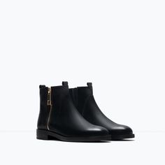 Image 2 of BASIC LEATHER ANKLE BOOTS from Zara