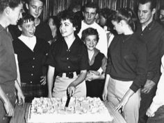 Annette Funicello celebrates birthday with Tim Considine, Tommy Cole, Sharon Baird, Roberta Shore and other friends Annette Funicello, Tim Considine, Original Mickey Mouse Club, 60s Tv Shows, American Bandstand, Vintage Television, Thanks For The Memories, Barbie And Ken, Vintage Disney