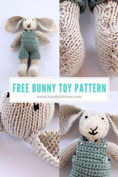 Bunny soft toy free knitting pattern