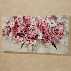 Rosa Impressions Floral Canvas Wall Art Multi Bright - Abstract Canvas Wall Art - Ideas of Abstract Canvas Wall Art Abstract Canvas Wall Art, Acrylic Canvas, Diy Canvas, Wall Canvas, Painting Abstract, Large Canvas Art, Abstract Portrait, Diy Painting, Watercolor Painting
