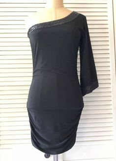 Forever21 Womens Dress Small Black One Shoulder Bodycon Cocktail Party LBD   affilink 2371c340d