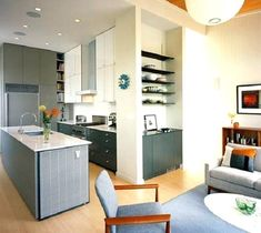 Small Apartment Kitchen Living Room Combination Combo