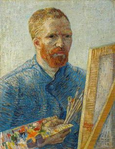 Self-portrait as a painter Vincent van Gogh (Dutch, Post-Impressionism, Oil on canvas. Van Gogh depicts himself as an artist, with all the necessary. Art Van, Van Gogh Art, Van Gogh Pinturas, Vincent Van Gogh, Van Gogh Museum, Art Museum, Van Gogh Self Portrait, Van Gogh Paintings, Pierre Auguste Renoir