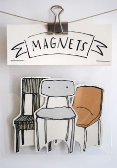 Three Chairs magnets