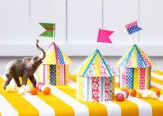 Zirkus, Zelte, DIY, Basteln mit Kindern, Kindergeburtstag, produziert für tambini.de
