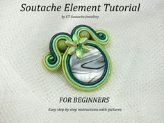 Soutache tutorial pattern for BEGINNERS step by step easy tutorial with photos PDF file english tutorial soutache jewelry basic tutorial Soutache Pattern, Soutache Tutorial, Soutache Pendant, Soutache Necklace, Jewelry Patterns, Beading Patterns, Local Craft Fairs, Step By Step Instructions, Jewellery
