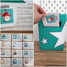 Advent Box: The Adventures of Santa Claus Christmas 2019, Merry Christmas, Xmas, Advent Box, Popular Crafts, Diy Advent Calendar, Diy Galaxy, Theme Noel, Nature Crafts