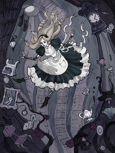 """Down the rabbit hole"" by IrenHorrors.deviantart.com on @deviantART"