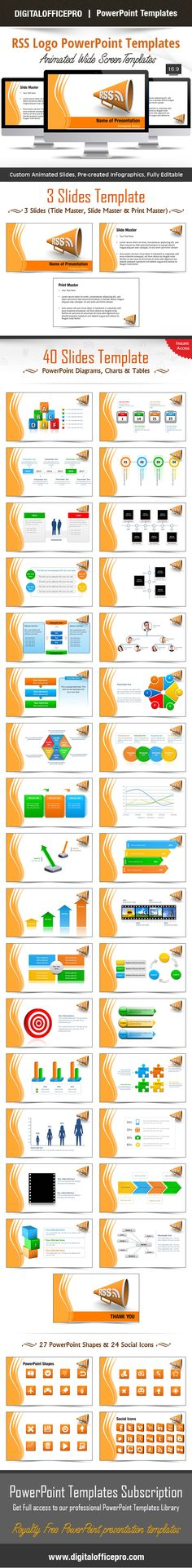 Impress and Engage your audience with RSS Logo PowerPoint Template and RSS Logo PowerPoint Backgrounds from DigitalOfficePro. Each template comes with a set of PowerPoint Diagrams, Charts & Shapes and are available for instant download.