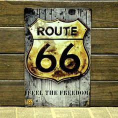Vintage Retro Route 66 Biker Traveller Metal Pub Saloon Bar Tavern Sign Christmas Gift Sheet Iron Metal Extraterrestrial on Etsy, $13.19