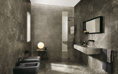 ROMA - Indoor tile / wall / floor / porcelain stoneware by FAP ceramiche Gray Bathroom Walls, Grey Bathrooms, Bathroom Wall Decor, Modern Bathroom, Bathroom Ideas, Wall And Floor Tiles, Wall Tiles, Marble Tiles, Grey Toilet