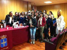 Con los estudiantes del IES Nº1 de #Gijón  Abril #2012