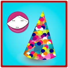 ¿Es el cumple de tu hijo? Haz estos gorritos de cumpleaños utilizando conitos de cartulina y adórnalos con pedacitos de papel de colores. ¿Qué necesitas? Lápiz adhesivo marca Pritt, cono de cartulina de 10cm x 22cm, sobrantes de papel para decorar.
