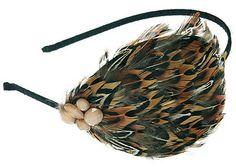 Amazon.com : L. Erickson Multi Large Feather Headband - Mocha Multi