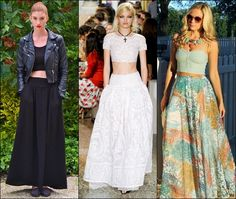 maxi formal skirts | Crop Tops and maxi skirts