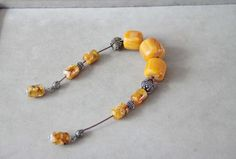 Amber worry beads chunky set open set of worry beads by ArktosArt