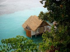 Indonesian water cottage. Hell yes.
