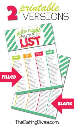 90 Date Ideas: Printable Date Night Bucket List night bucket, datenightbucketlistjpg 550950, bucket lists