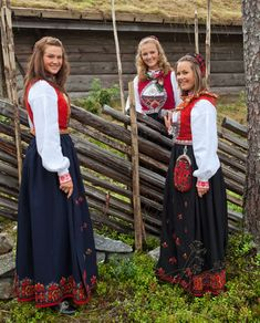 Hello all, This is the second part of my overview of the costumes of Norway. This will cover the central row of provinces in Eastern N. Norwegian Clothing, Beautiful Norway, Folk Costume, People Of The World, Traditional Outfits, Vintage Photos, Bridal Dresses, Culture, Womens Fashion