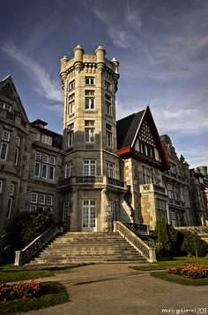 Magdalena Palace in Santander, Cantabria, Spain was built 1908-1912 as a seasonal residence for the royal family of Spain.