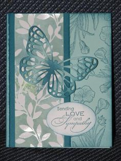 Irresistibly Butterfly Sympathy by dmo - Cards and Paper Crafts at Splitcoaststampers