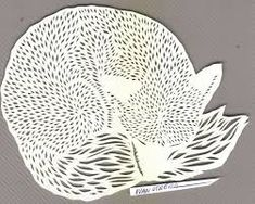 Resultado de imagen para papercut feather