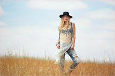 Annie Mcginty Stars in the Hippie Free People April Lookbook #bohemian #fashion trendhunter.com