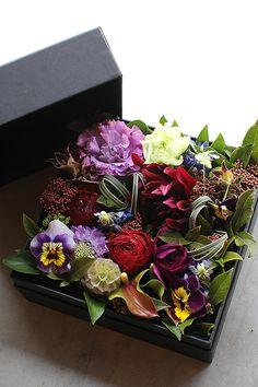 All sizes | Box Flower Arrangement | Flickr - Photo Sharing!