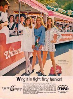 "mangodebango: "" TWA House of Nine Fashions, Universal Studios, Burbank, CA, 1969. """
