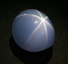 The Star of India is a 563.35 carat (112.67 g) star sapphire, one of the largest such gems in the world. (The It is almost flawless and unusual in that it has stars on both sides of the stone. The greyish blue gem was mined in Sri Lanka. The milky quality of the stone is caused by the traces of the mineral rutile,. The tiny fibers of the mineral, aligned in a three-fold pattern within the gem, reflect incoming light into the star pattern.