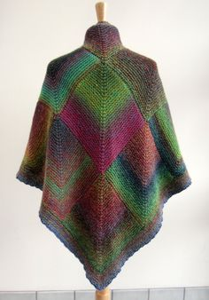 The snow may be holding off (for now), but there's enough cold around to make us want to knit and crochet faster. From wintery white…to a riot of color… … there are so many …. - Crochet and Knit Ladies Cardigan Knitting Patterns, Crochet Poncho Patterns, Knitted Poncho, Knitted Shawls, Crochet Shawl, Knit Crochet, Knitting Short Rows, Mitered Square, Loose Knit Sweaters