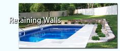 Retaining wall for around the pool