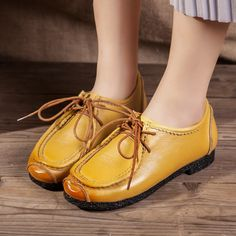 6096d36eca9 2017 High Quality Handmade Flats Women s Shoes Spring Woman Flat Heel Soft Loafers  Women Genuine Leather