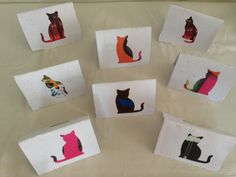 Non-shedding cats - write your own message inside - 6 TL, 2 euro Non Shedding Cats, Euro, Recycling, Messages, Writing, Paper, Cards, Repurpose, Maps