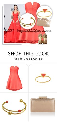 """SHOP - Virginie Millefiori Bijoux"" by ladymargaret ❤ liked on Polyvore featuring Halston Heritage and Monsoon"
