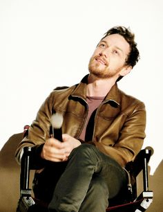 James McAvoy attending a Q&A session at the Paris Theatre on the 13th of September, 2014