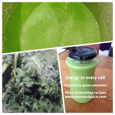 Green smoothies give you energy. More on @passion4juice
