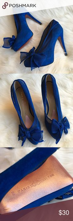 Paris Hilton Royal Blue Pumps size 6 EUC like new blue suede Pumps very sexy style by Paris Hilton Paris Hilton Shoes Heels