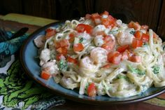 Shrimp Broccoli Fettuccine (made with Philadelphia Cooking Creme) Kitchen Recipes, Baby Food Recipes, Great Recipes, Favorite Recipes, Food Baby, Yummy Recipes, Recipies, Yummy Food, Seafood Recipes