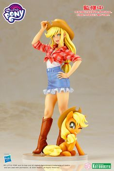 My Little Pony Applejack Kotobukiya Bishoujo Statue--reminds me of my AJ cosplay (and RD too My Little Pony Dolls, New My Little Pony, My Little Pony Figures, Little Pony Cake, Equestria Girls, Bishoujo Statue, My Little Pony Applejack, My Little Pony Wallpaper, Imagenes My Little Pony