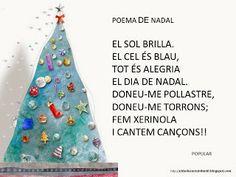 EI D' EDUCACIÓ INFANTIL: POEMES DE NADAL Christmas Arts And Crafts, Decorative Bells, Art For Kids, Blog, Valencia, Winter Craft, Posters, Google, School