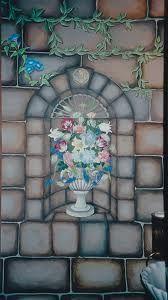 mural ideas faux rock window