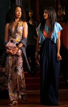 Photo of Gina Torres & her friend  Vanessa Abrams