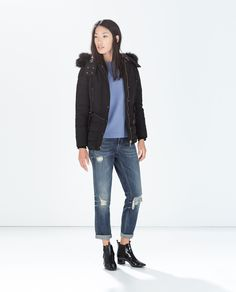 DOWN ANORAK WITH FURRY HOOD - Outerwear - WOMAN | ZARA United States