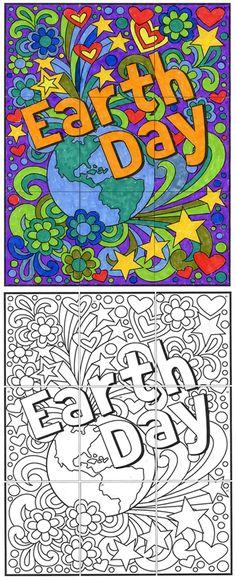 FREE! Mini Earth Day Mural