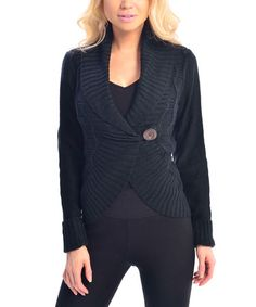 Look what I found on #zulily! Black Toggle Cardigan by VICE VERSA #zulilyfinds