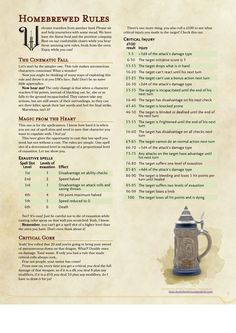 I've put on paper some of the rules I made for my table. Can't guarantee they are balanced, but I can say the're pretty cool :) dnd d&d dungeons dragons next 5e 5th edition homebrew