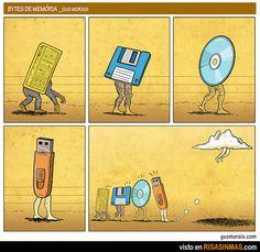 Evolución del almacenamiento de datos.